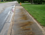 Concrete Cleaning and Concrete Polishing, Sidewalk before