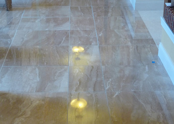 Marble Hallway Floor Cleaning