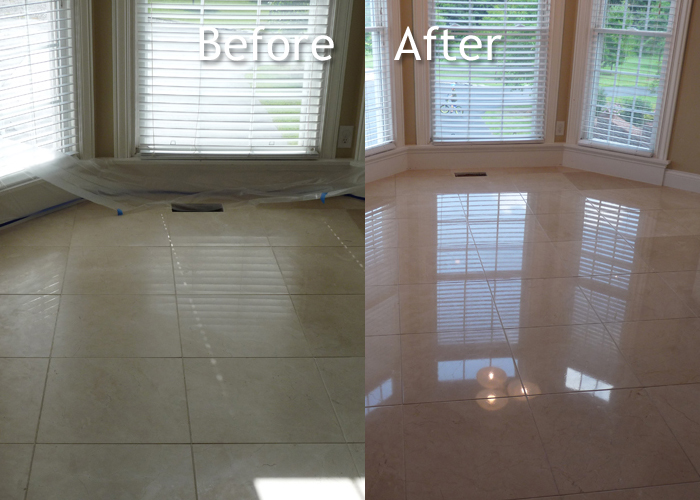 Marble Diningroom Floor Cleaning
