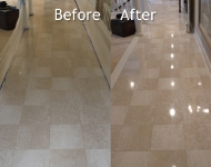 Marble Hallway Cleaning