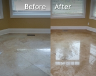 Travertine Dinning Room Floor Cleaning
