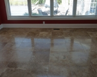 Travertine Sunroom Floor Cleaning