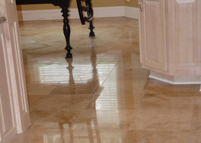 Travertine Kitchen Floor Cleaning