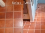 Saltillo Tile Cleaning & Grout Cleaning Case Study Photo Gallery