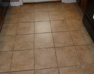 Kitchen Back Door Tile Floor Cleaning
